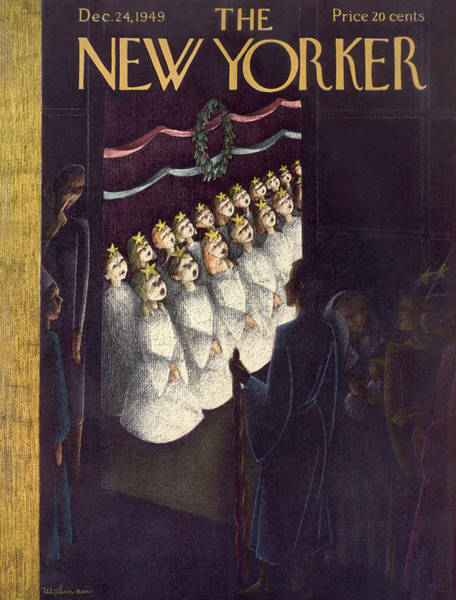 Painting - New Yorker December 24th, 1949 by Christina Malman