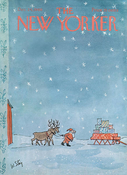 Wall Art - Painting - New Yorker December 24th, 1966 by William Steig