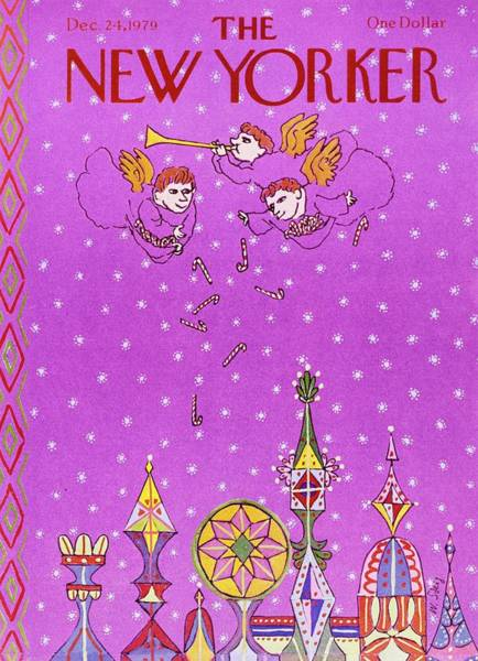 Candy Painting - New Yorker December 24th 1979 by William Steig