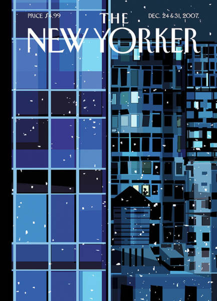 City Painting - New Yorker December 24th, 2007 by Kim DeMarco