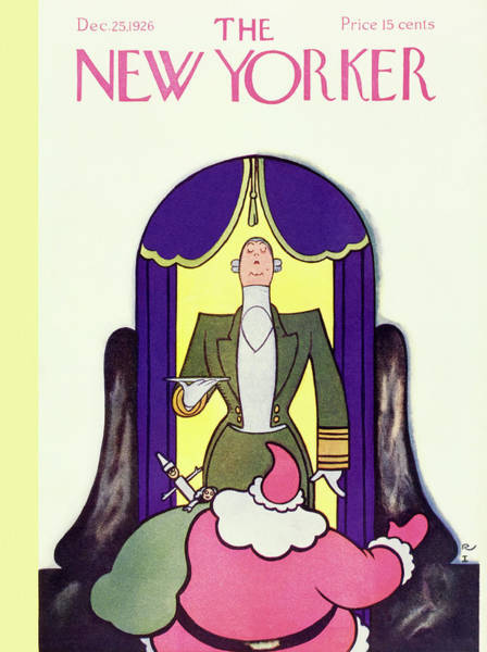 Curtain Painting - New Yorker December 25 1926 by Rea Irvin