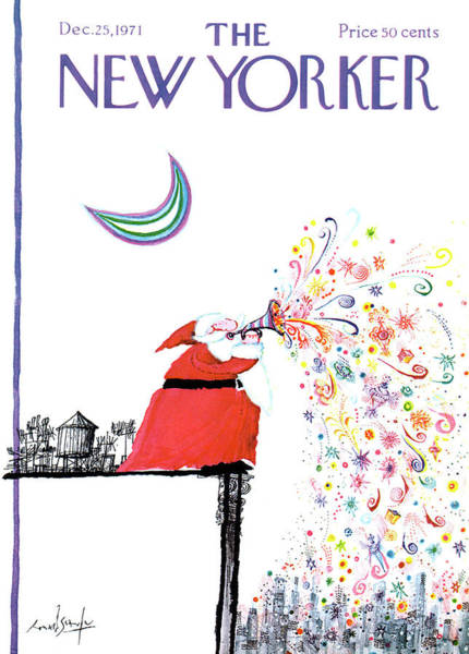 Wall Art - Painting - New Yorker December 25th, 1971 by Ronald Searle