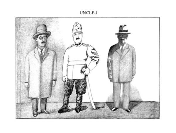 Shaded Drawing - New Yorker December 25th, 1978 by Saul Steinberg