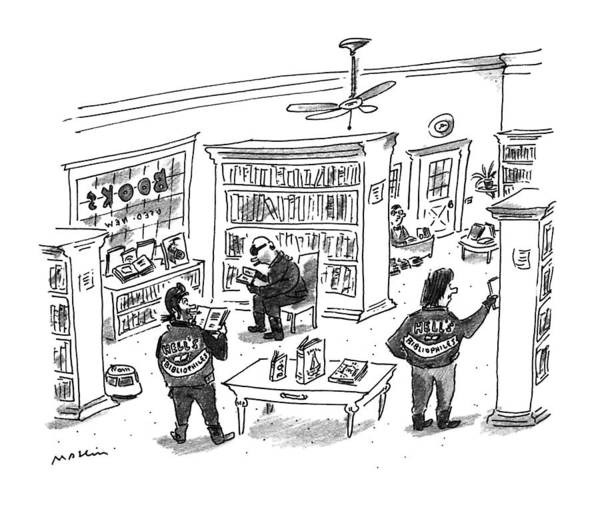 Shopping Drawing - New Yorker December 25th, 1995 by Michael Maslin