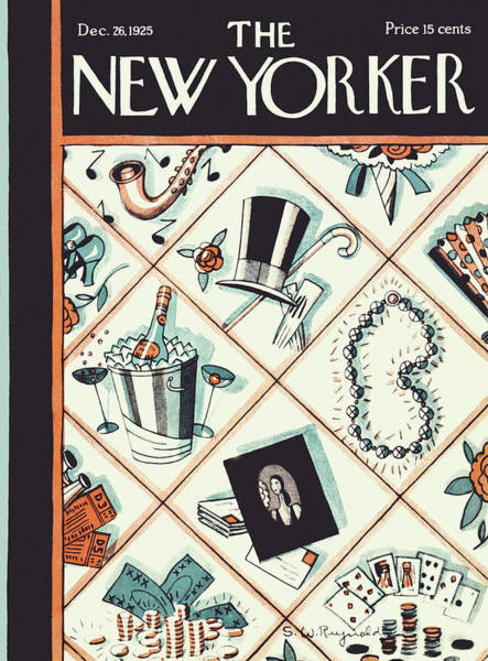 Champagne Painting - New Yorker December 26 1925 by Stanley W Reynolds