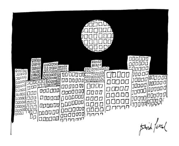 The City Drawing - New Yorker December 26th, 1983 by David Pascal