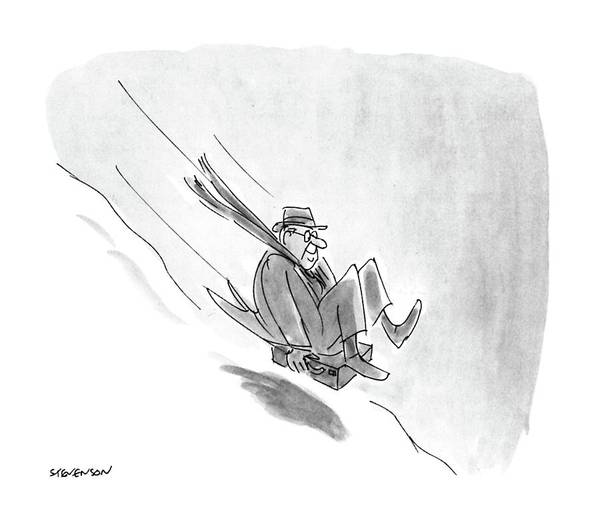 Briefcase Drawing - New Yorker December 26th, 1988 by James Stevenson