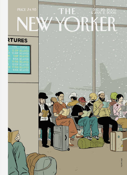Interiors Painting - New Yorker December 26th, 2005 by Adrian Tomine