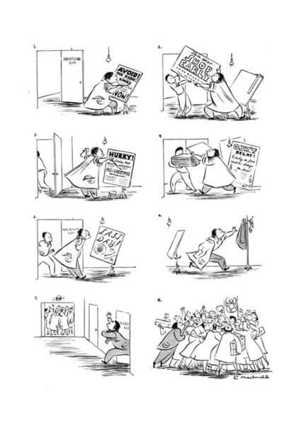 Tear Drawing - New Yorker December 27th, 1941 by Roberta Macdonald
