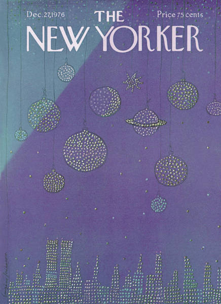 Skyline Painting - New Yorker December 27th, 1976 by Eugene Mihaesco