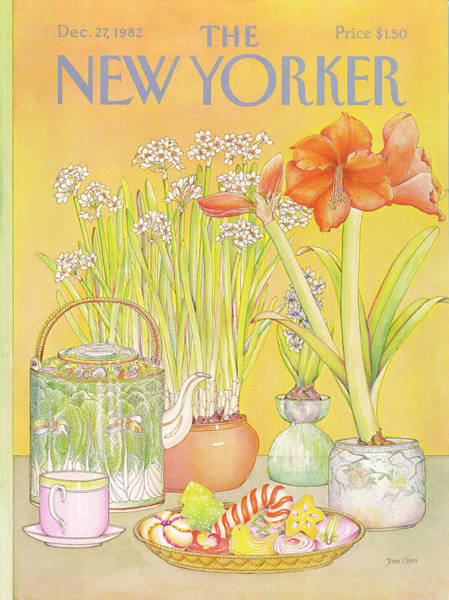 Table Painting - New Yorker December 27th, 1982 by Jenni Oliver