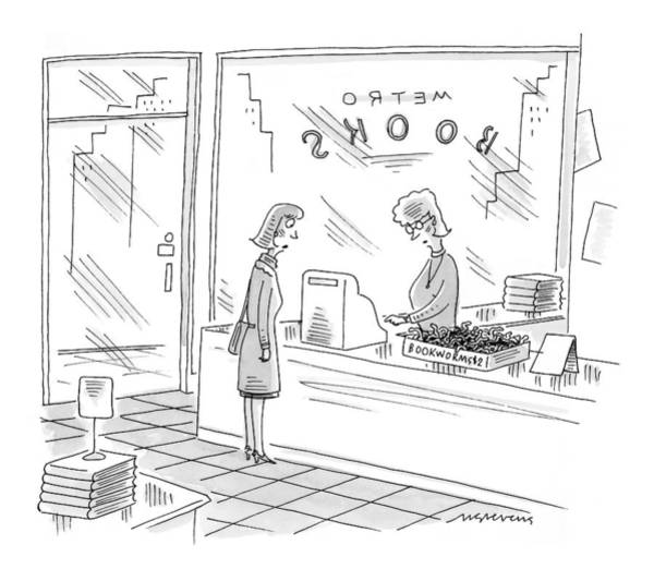 Bookstore Drawing - New Yorker December 27th, 1999 by Mick Stevens