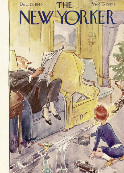 Morning Painting - New Yorker December 28th, 1940 by Perry Barlow