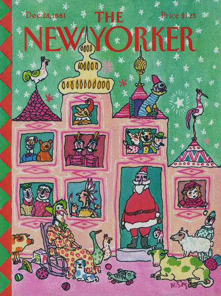 Gifts Painting - New Yorker December 28th, 1981 by William Steig