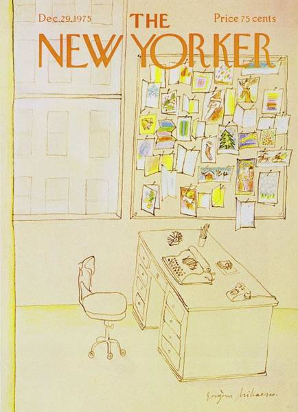 Office Furniture Painting - New Yorker December 29th 1975 by Eugene Mihaesco