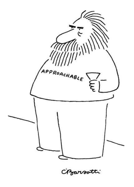 Bearded Man Drawing - New Yorker December 29th, 1986 by Charles Barsotti