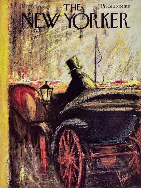 Headgear Painting - New Yorker December 2nd 1961 by Robert Kraus