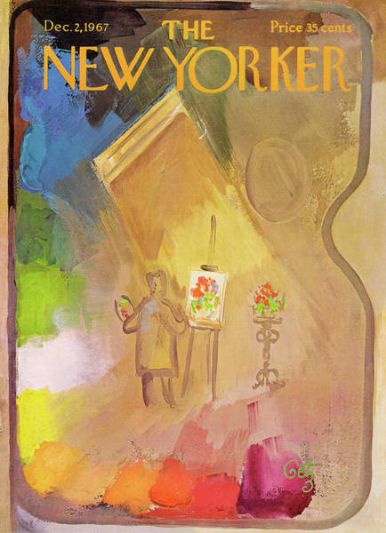 Artwork Painting - New Yorker December 2nd, 1967 by Arthur Getz