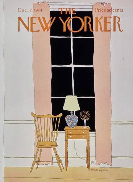 2 Painting - New Yorker December 2nd 1974 by Gretchen Dow Simpson