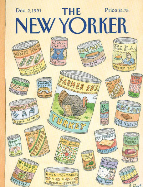 New Yorker December 2nd, 1991 Art Print