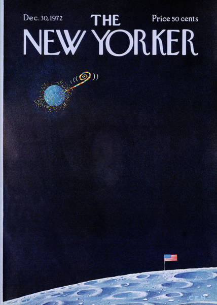 Moon Painting - New Yorker December 30th, 1972 by Charles E Martin