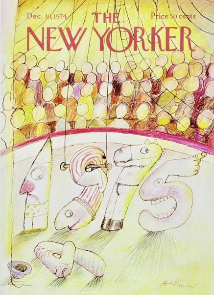 Performer Painting - New Yorker December 30th 1974 by Andre Francois