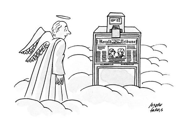 Newspaper Drawing - New Yorker December 30th, 1991 by Joseph Farris