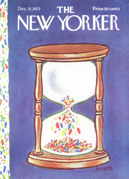Running Painting - New Yorker December 31st, 1973 by Lee Lorenz