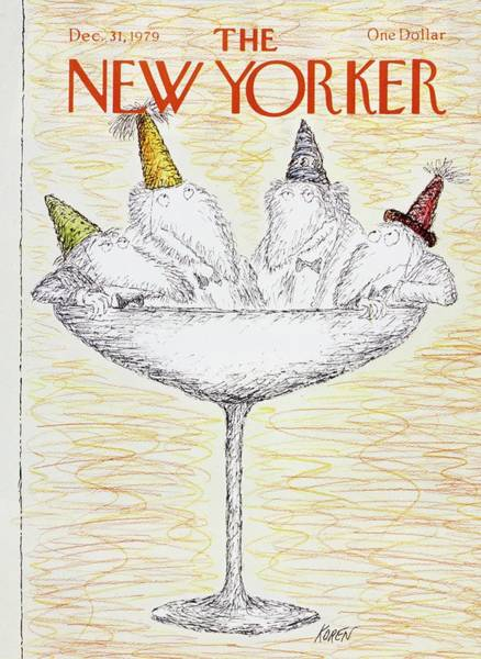 New Yorker December 31st 1979 Art Print by Edward Koren
