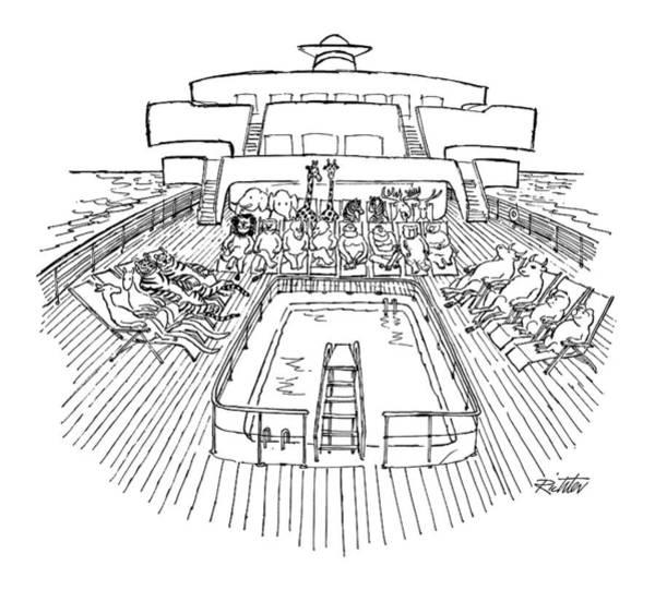 Noahs Ark Wall Art - Drawing - New Yorker December 31st, 1979 by Mischa Richter