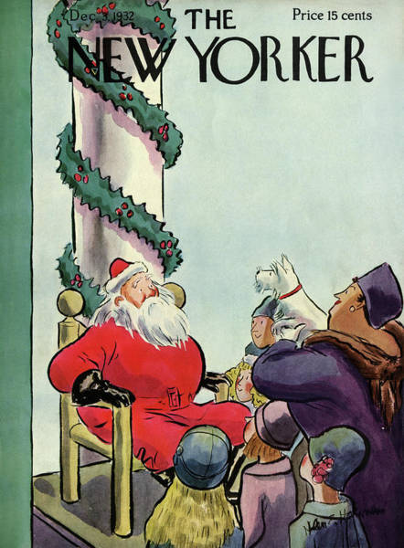 Xmas Painting - New Yorker December 3rd, 1932 by Helen E. Hokinson