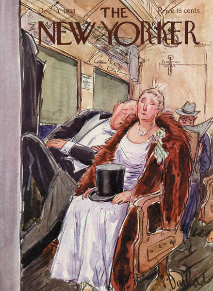 Magazine Cover Painting - New Yorker December 3rd, 1938 by Perry Barlow