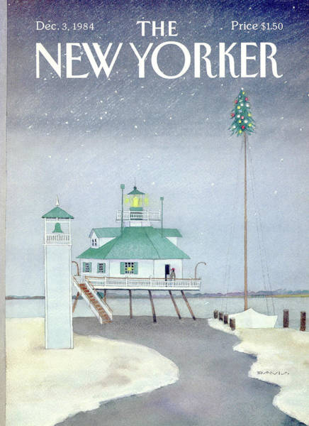 Sailing Painting - New Yorker December 3rd, 1984 by Susan Davis