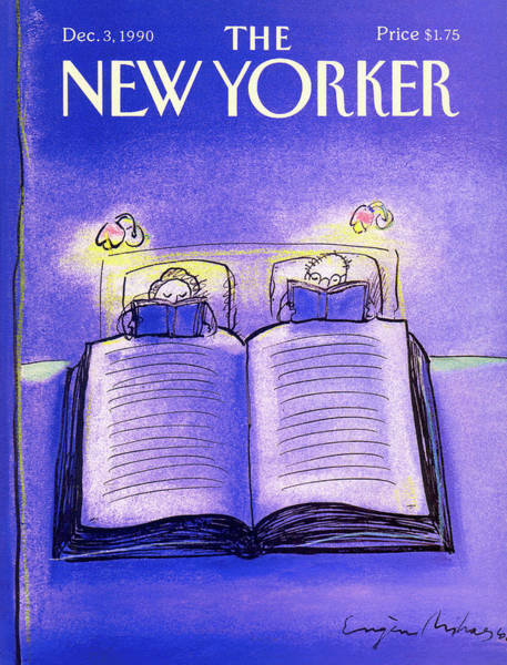 Reading Painting - New Yorker December 3rd, 1990 by Eugene Mihaesco