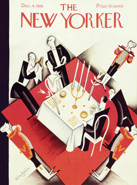 Waiter Painting - New Yorker December 4 1926 by Constantin Alajalov