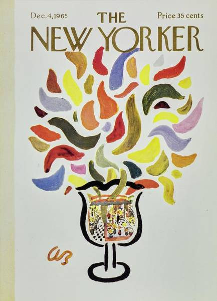 White Background Painting - New Yorker December 4th 1965 by Aaron Birnbaum