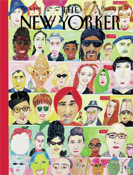 Men Painting - New Yorker December 4th, 1995 by Maira Kalman