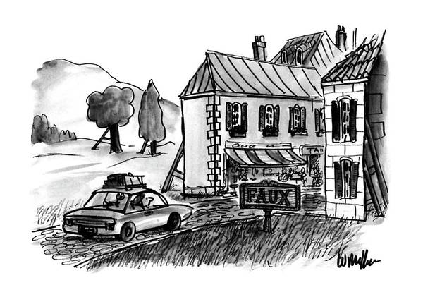 Fake Drawing - New Yorker December 4th, 1995 by Warren Miller