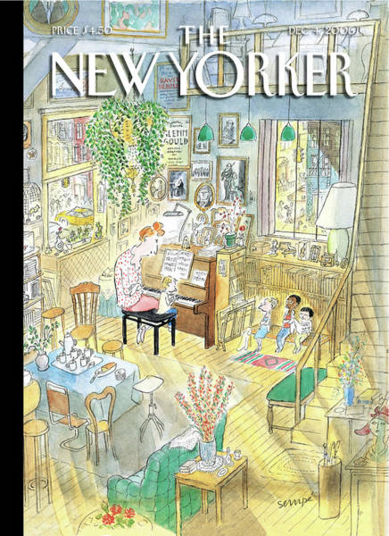 Houses Painting - New Yorker December 4th, 2006 by Jean-Jacques Sempe