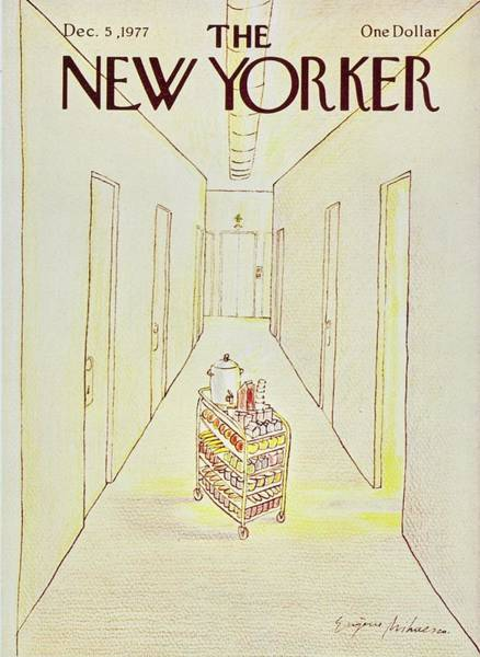 Morning Painting - New Yorker December 5th 1977 by Eugene Mihaesco