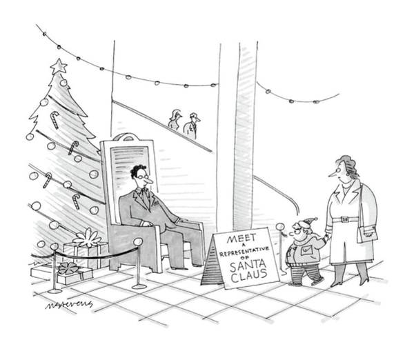 Department Drawing - New Yorker December 5th, 1988 by Mick Stevens