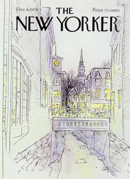 Town Painting - New Yorker December 6th 1976 by Arthur Getz
