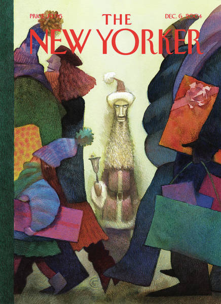 Dress Painting - New Yorker December 6th, 2004 by Carter Goodrich