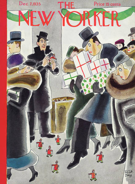 Toys Painting - New Yorker December 7 1935 by Robert Day