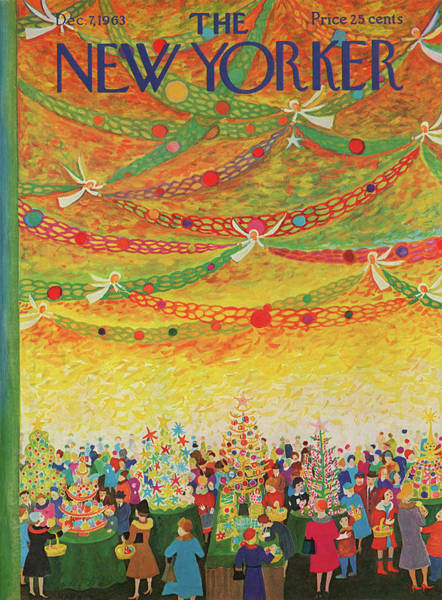 Ilonka Painting - New Yorker December 7th, 1963 by Ilonka Karasz