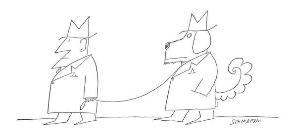 Animals In Suits Wall Art - Drawing - New Yorker December 7th, 1963 by Saul Steinberg