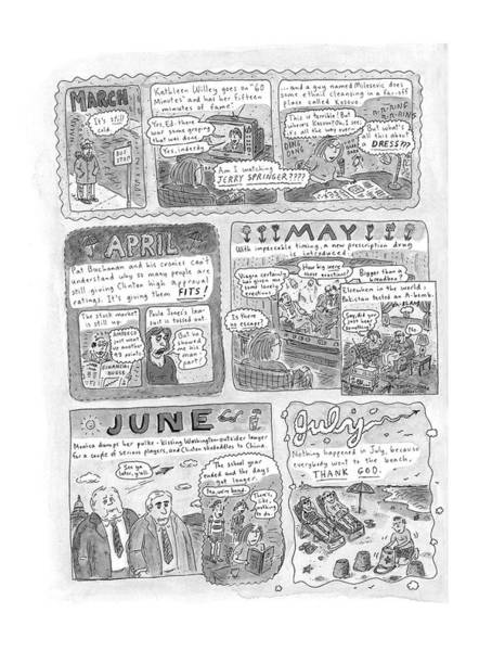 Affair Drawing - New Yorker December 7th, 1998 by Roz Chast