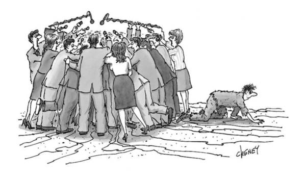 Obstacle Drawing - New Yorker December 7th, 1998 by Tom Cheney