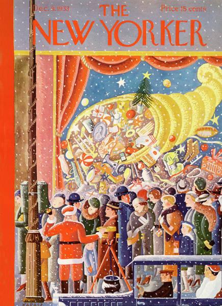 Shopping Painting - New Yorker December 9th, 1933 by Ilonka Karasz