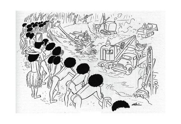 South Island Drawing - New Yorker December 9th, 1944 by  Alain